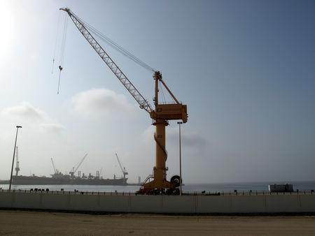 General view of  Duqm Port in Oman