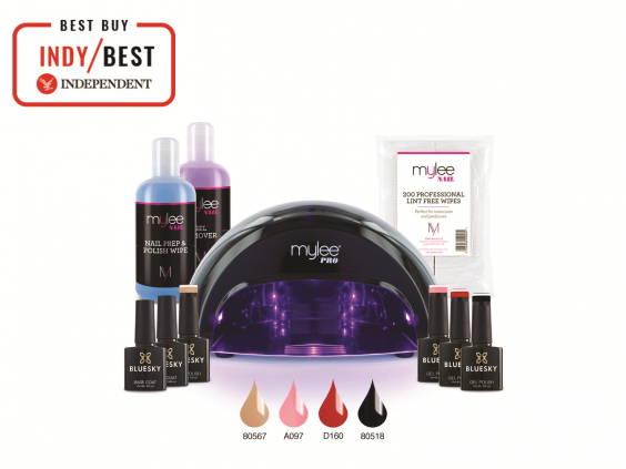 An at-home gel nail kit is the closest you can get to a salon visit (The Independent)