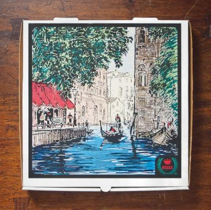 In the late 1990's, Roma Foods introduced a series of pizza boxes that featured typical scenes from different Italian cities. The first-edition image of Venice was RockTenn's first four-color pizza box, which opened the floodgates for box-top image design