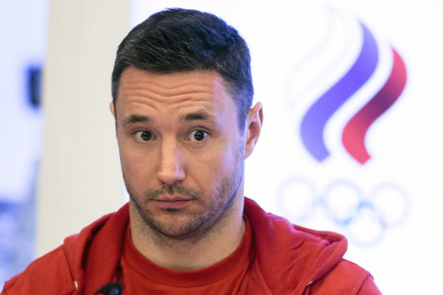 FILE - In this Tuesday, Dec. 12, 2017 file photo, Russia national ice hockey team captain Ilya Kovalchuk listens to a journalists question during a news conference followed an Russian Olympic committee meeting in Moscow, Russia. Kovalchuk has agreed to a three-year, $18.75 million deal to return to the NHL with the Los Angeles Kings. The club announced the deal Saturday, June 23, 2018 with Kovalchuk, who is back in North America after a five-year absence. (AP Photo/Ivan Sekretarev, file)