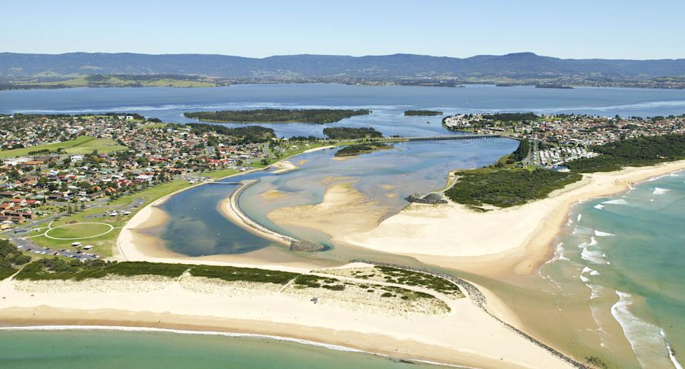 Aerial view of Lake Illawarra, which is what divides the two LGAS. Source: Getty Images