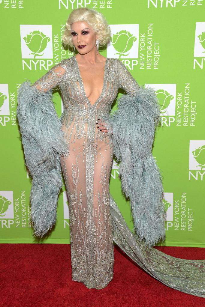 Catherine Zeta-Jones attends Bette Midler's Hulaween To Benefit NY Restoration Project. [Photo: Getty]