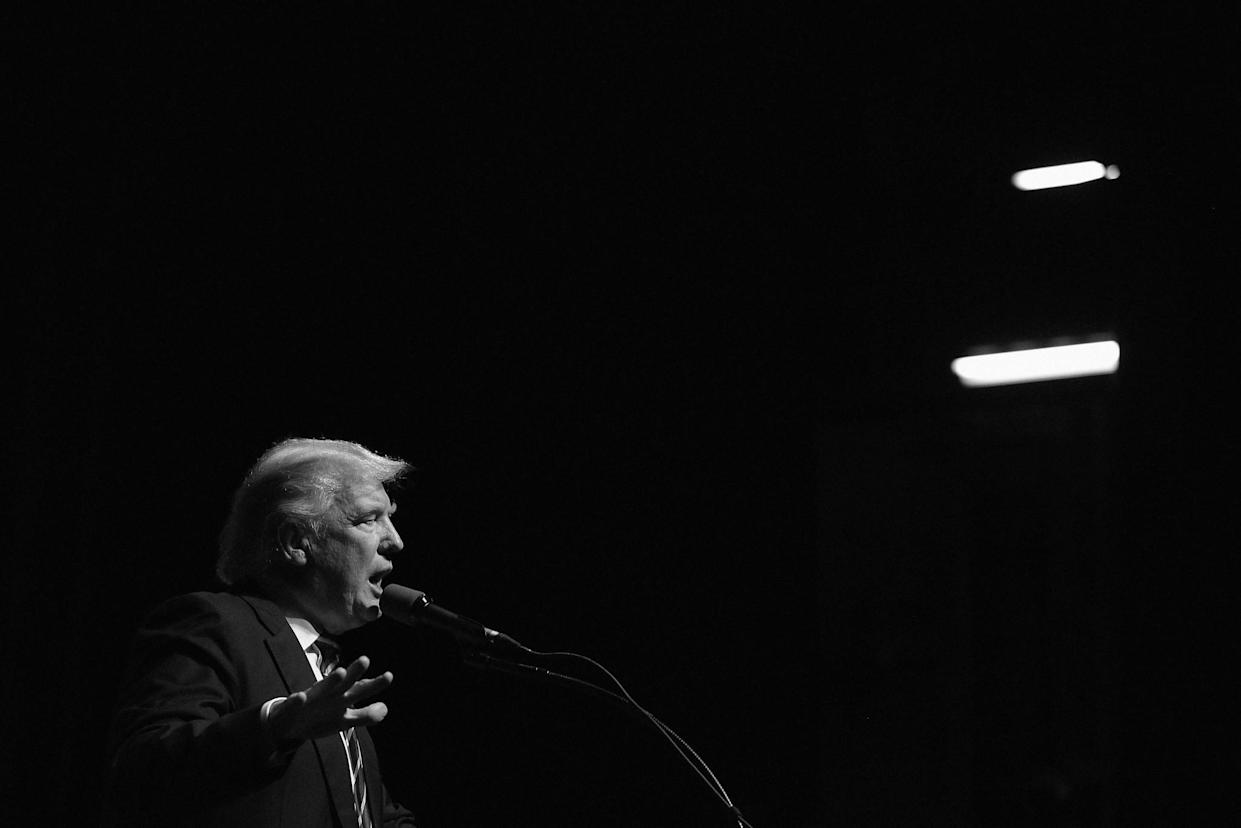 Donald Trump speaks during a campaign event in July, in Davenport, Iowa. (Photo: Joshua Lott/Getty Images)