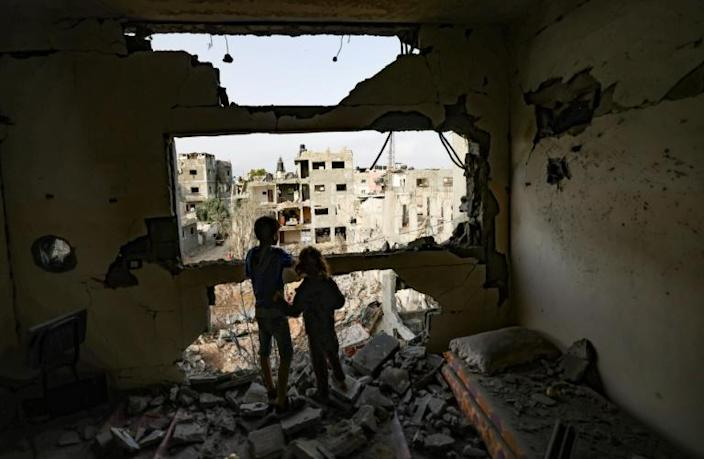 Some 120,000 Palestinians have been displaced, according to Hamas