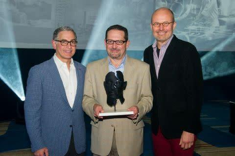 Hyatt Regency O'Hare is the recipient of the company's first ''CEO's Award for Innovation.'' From le ...