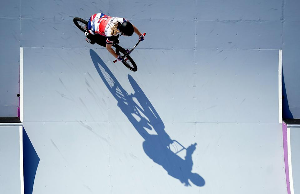 Charlotte Worthington on her way to winning a gold medal (Mike Egerton/PA) (PA Wire)
