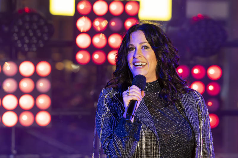 Alanis Morisette performs on stage at the Times Square New Year's Eve celebration on Tuesday, Dec. 31, 2019, in New York. (Photo by Ben Hider/Invision/AP)