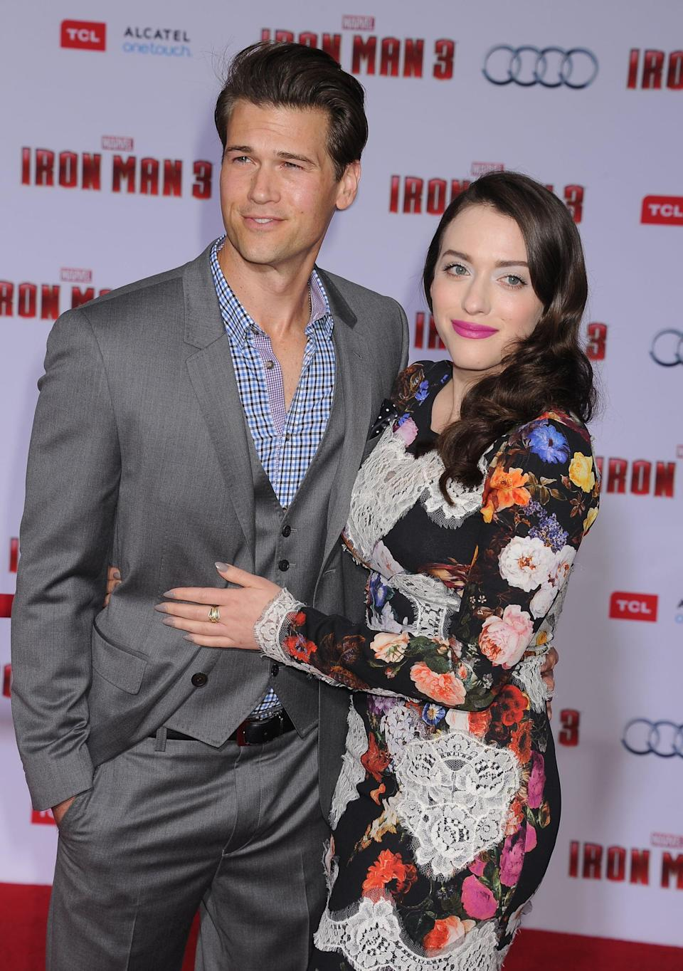 """<p>Kat began <a href=""""https://www.usmagazine.com/celebrity-news/news/kat-dennings-dating-2-broke-girls-guest-star-nick-zano-201261/"""" class=""""link rapid-noclick-resp"""" rel=""""nofollow noopener"""" target=""""_blank"""" data-ylk=""""slk:dating her 2 Broke Girls costar"""">dating her <strong>2 Broke Girls</strong> costar</a> at the end of 2011. The pair met while working on the show, with Kat telling <strong>Glamour</strong> of the relationship in 2012, """"Yes! I have nothing to hide! It's the truth! <a href=""""https://www.glamour.com/story/-2-broke-girlskat-dennings-ope"""" class=""""link rapid-noclick-resp"""" rel=""""nofollow noopener"""" target=""""_blank"""" data-ylk=""""slk:He's the best!"""">He's the best!</a>"""" Much like the characters of Max and Johnny on the show, the relationship wasn't meant to last and they called it quits in 2014.</p>"""