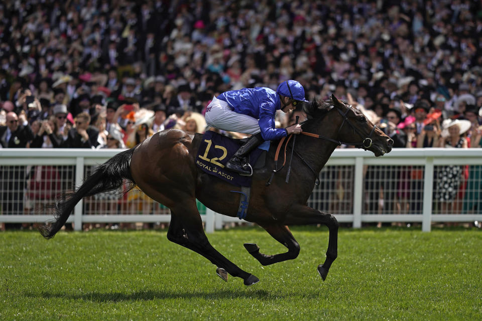 James Doyle riding Pinatubo to victory in the Chesham Stakes at Royal Ascot last year. He will look for another win in the Group One St James's Palace Stakes.