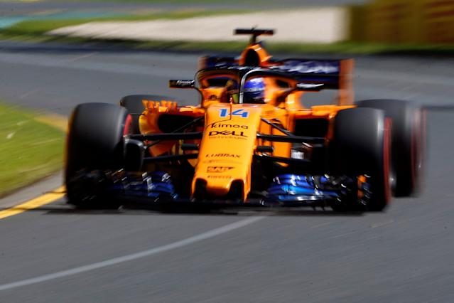 Formula One F1 - Australian Grand Prix - Melbourne Grand Prix Circuit, Melbourne, Australia - March 23, 2018 McLaren's Fernando Alonso in action during practice REUTERS/Brandon Malone