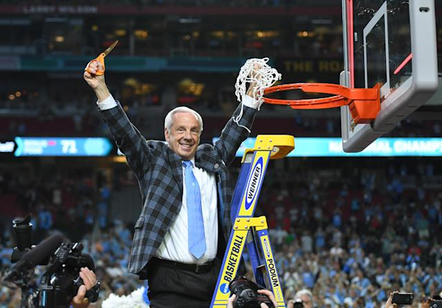 Roy Williams and the Tar Heels were triumphant again on Friday as the NCAA ultimately ruled no wrongdoing in its academic fraud case against the school. (Getty)