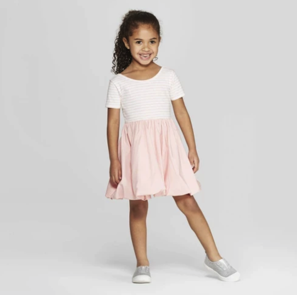 Mila & Emma Toddler Girls' Ballerina T-Shirt Dress. (Photo: Target)
