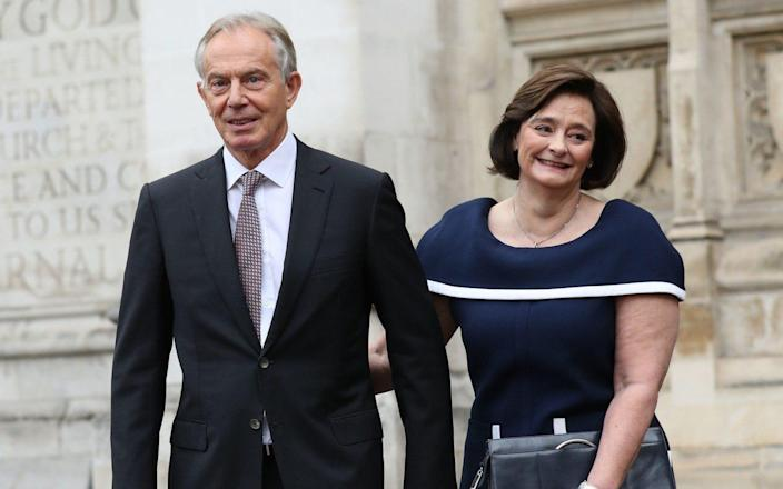 Cherie Blair and her husband, former prime minister Tony Blair - Yui Mok