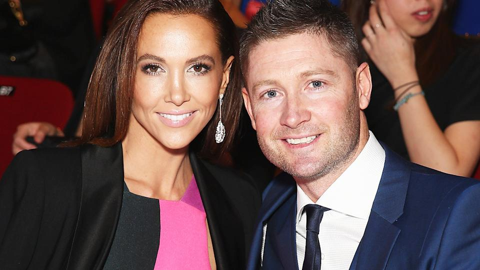 Kyly and Michael Clarke, pictured here at Mercedes-Benz Fashion Festival Sydney in 2014.