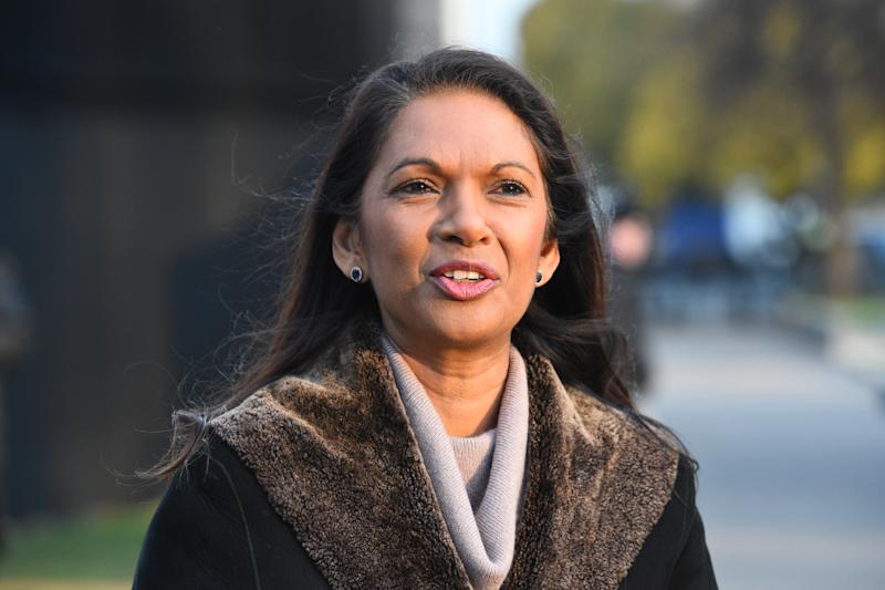 Campaigner Gina Miller on College Green in Westminster the morning after Prime Minister Therea May survived an attempt by Conservative MPs to oust her with a vote of no confidence.