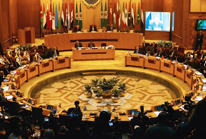 Arab League foreign ministers hold an emergency meeting on U.S. President Donald Trump's decision to recognise Jerusalem as the capital of Israel, in Cairo, Egypt