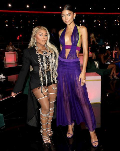 PHOTO: Lil' Kim and Zendaya attend the BET Awards 2021 at Microsoft Theater on June 27, 2021 in Los Angeles. (Bennett Raglin/Getty Images for BET)