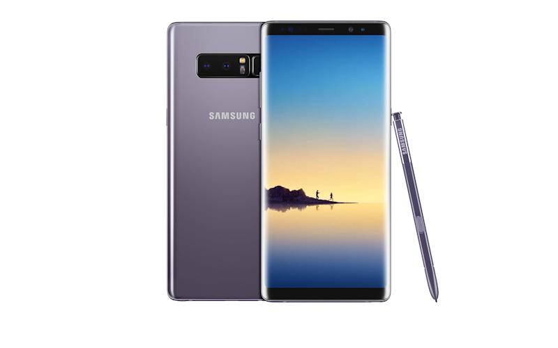 The Samsung Galaxy Note 8 in Orchid Grey - Samsung