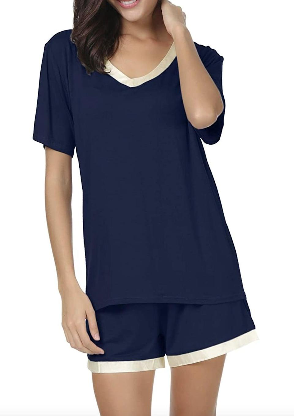 <p>The linings of this <span>Invug Shirt and Shorts Pajama Set </span> ($17 - $26) make it stylish and wearable. You can totally pair the top with your favorite denim cutoffs and go on a quick walk, so you're basically getting multiple looks for the price of one.</p>