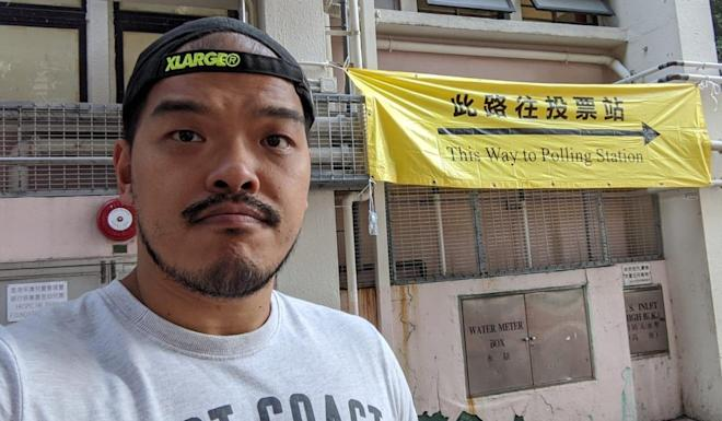 Fung Ka-keung, a human resources professional based in Seoul, came to Hong Kong on Thursday to cast his vote. Photo: Gary Cheung