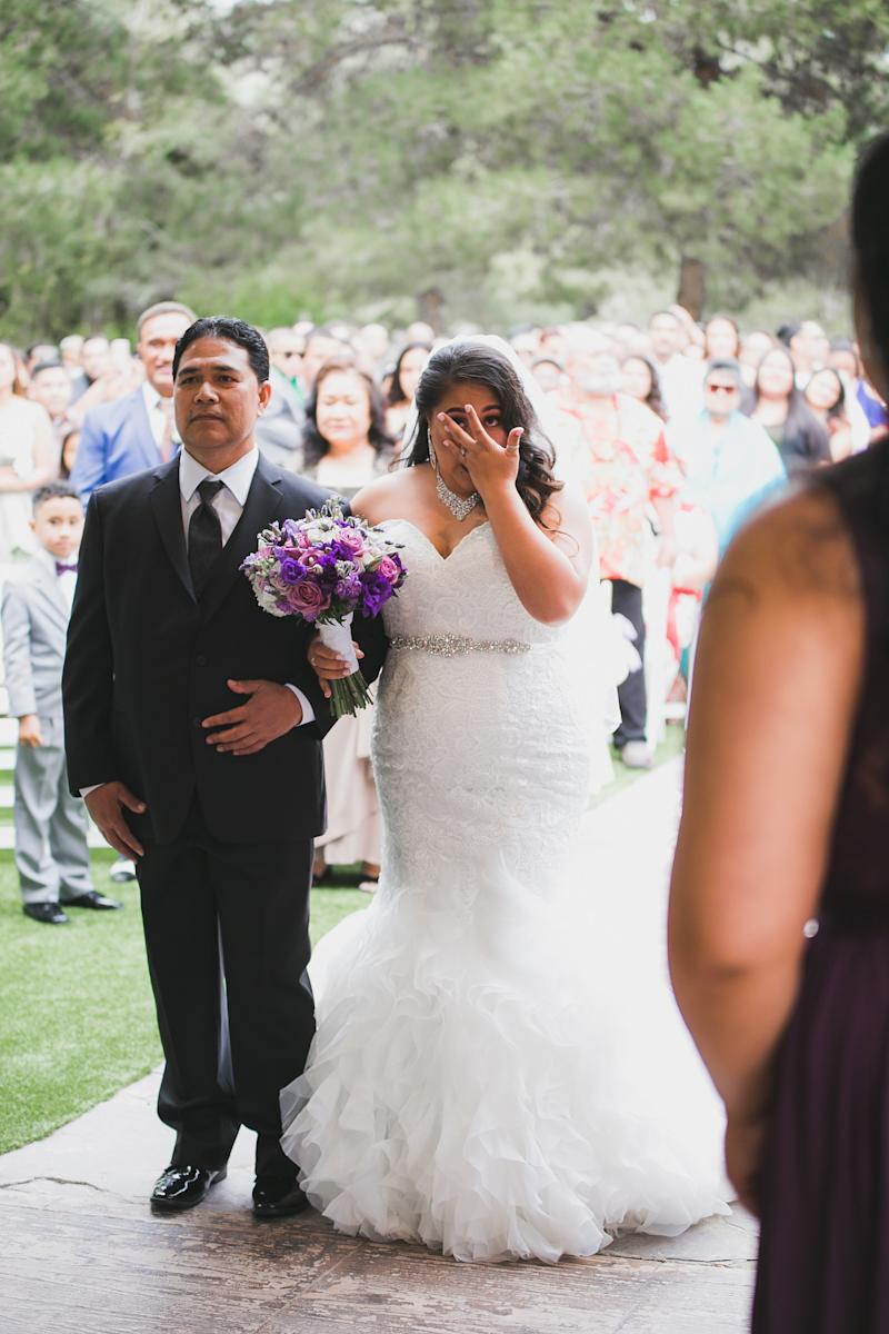 Angelica got emotional, too.  (Nicholas G Photography)