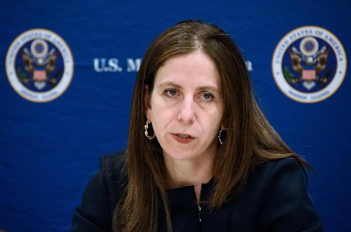 Sigal Mandelker, US Treasury Under Secretary for Terrorism and Financial Intelligence, warns that more sanctions on Russia are forthcoming (AFP Photo/Isaac Kasamani)