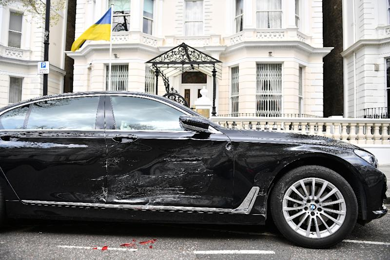 A man suspected of ramming the Ukrainian ambassador's car in London is being held under mental health legislation