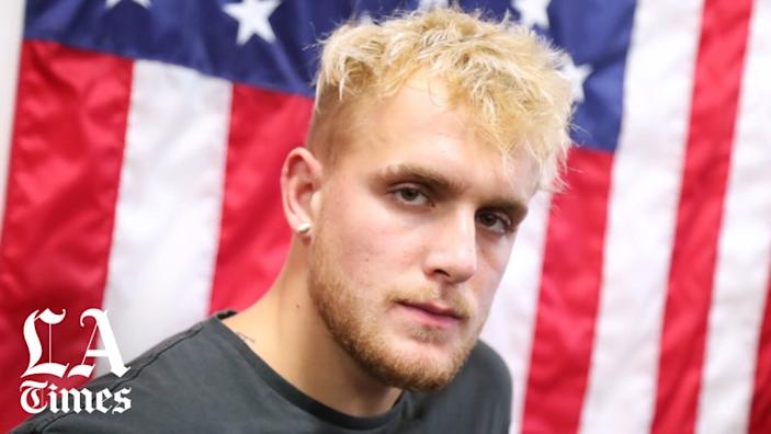 """Jake Paul attends the Logan Paul Workout Showcase at Wild Card Boxing Club in Hollywood on Oct. 22, 2019. <span class=""""copyright"""">(Getty Images)</span>"""