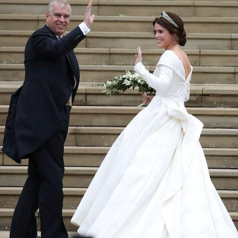 Prince Andrew and his daughter Princess Eugenie - Credit: Reuters
