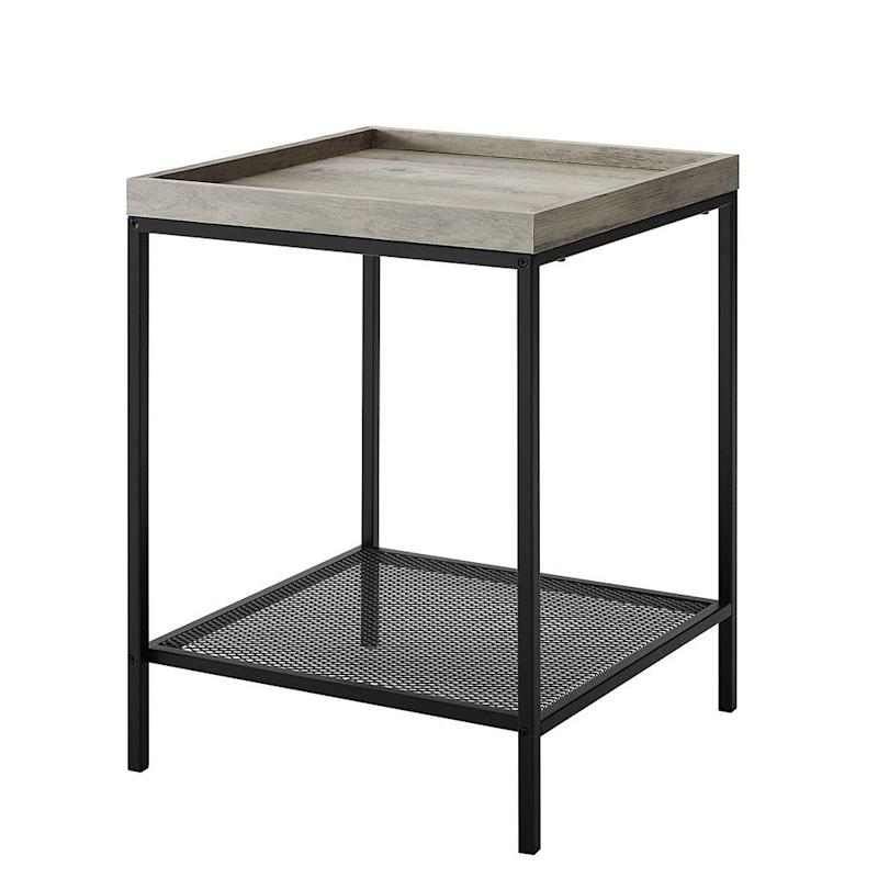 Manor Park Urban Industrial Wood and Metal End Table