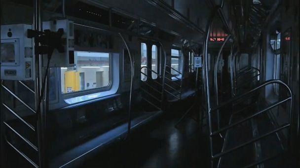 PHOTO: New York City's Mass Transit Authority is using ultraviolet lamps from PURO to disinfect its subway cars, May 19 2020, in New York, (WABC)