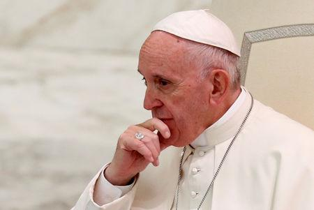 FILE PHOTO: Pope Francis leads an audience at the Vatican