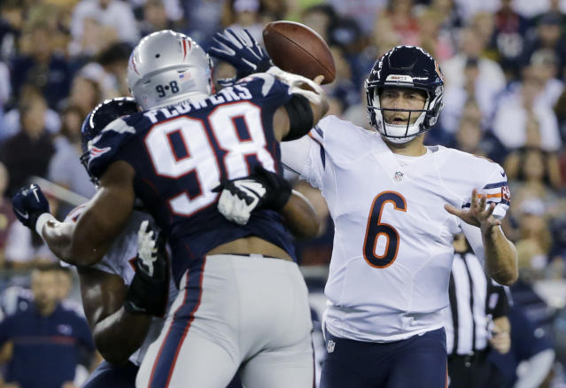 Chicago Bears quarterback Jay Cutler (6) might be done with the team after this season. (AP)
