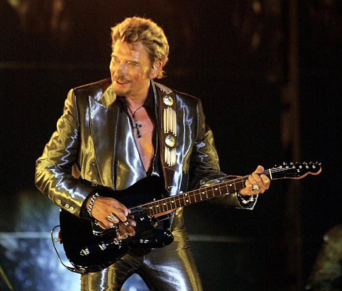 Johnny Hallyday, widely revered in France, died aged 74 on Wednesday after a battle with lung cancer (AFP Photo/GERARD JULIEN)