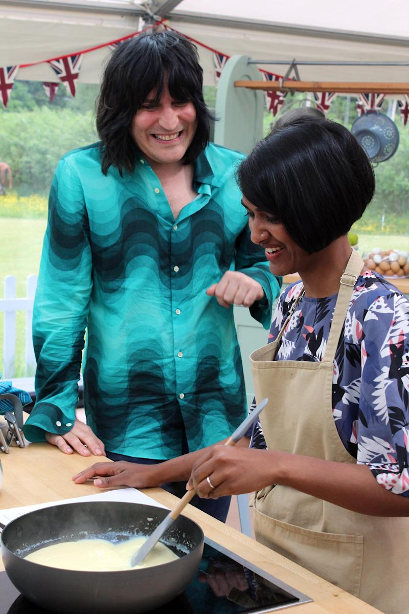 Noel Fielding's shirt has sent social media into meltdown [Photo: Love Productions/Photographer: William Davies / Lorraine Lam]