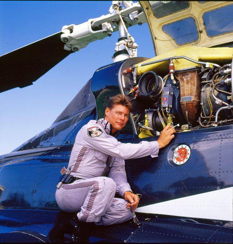 Jan-Michael Vincent in 'Airwolf' (Photo by CBS/Getty Images)