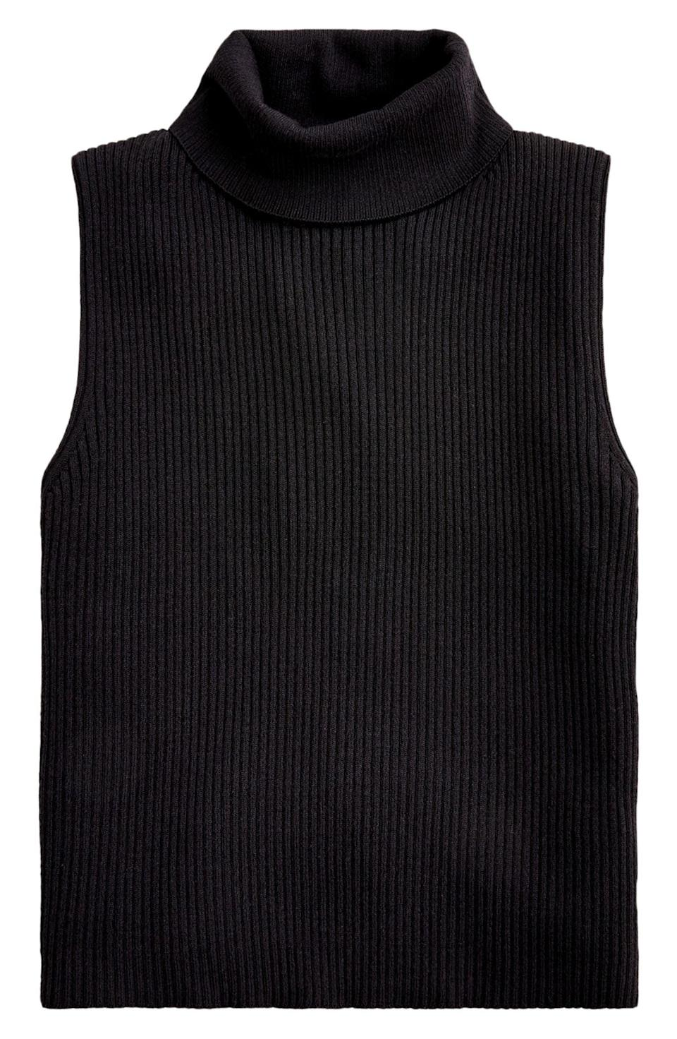 <p>Wear this <span>J.Crew Ribbed Turtleneck Sweater Tank</span> ($60) over your favorite blouse for a sophisticated layered look.</p>