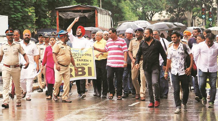 Mumbai: PMC Bank account holders protest at RBI office