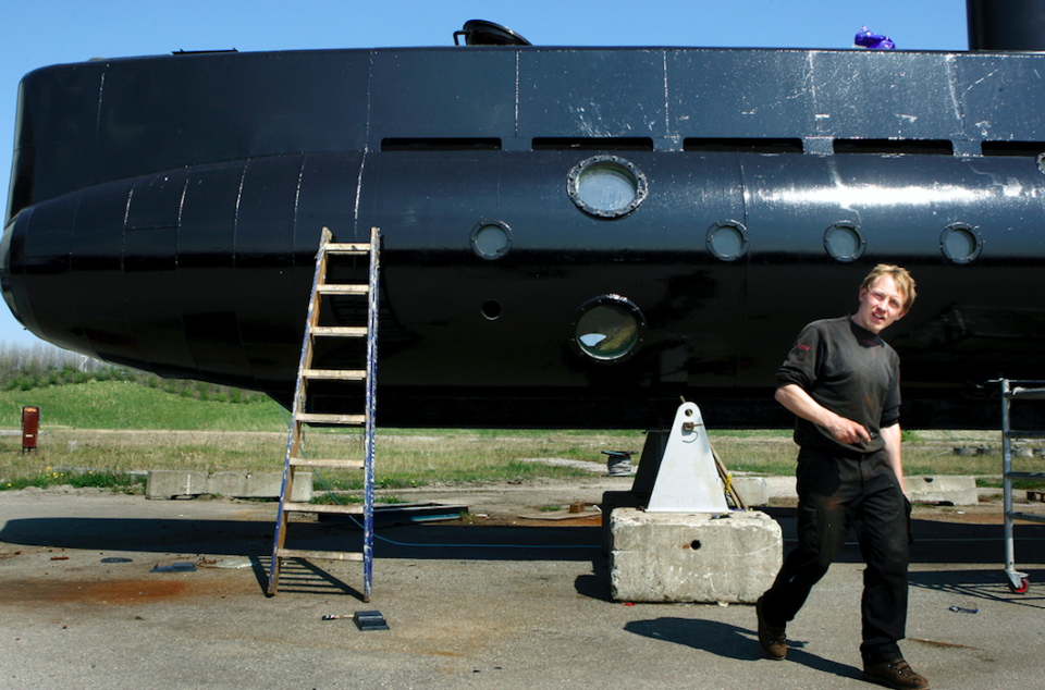 <em>Madsen initially claimed Ms Wall had died after he accidentally dropped the submarine hatch on her head (PA)</em>
