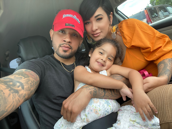 Francis Lopez, Dayana Contreras and their daughter. (Photo courtesy of the family)