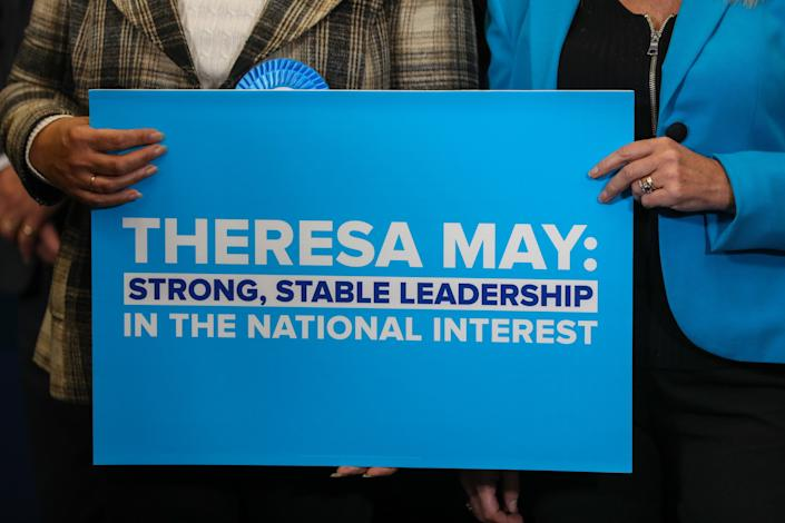 Theresa May's attempt to persuade the country to support her 'strong and stable leadership' in a General Election massively backfired. (Chris Ratcliffe/Bloomberg)
