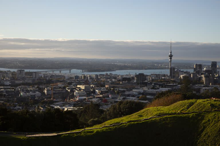 A view of  Auckland, New Zealand's largest city, on May 5, 2021. More than 50,000 people have escaped the pandemic by moving back to New Zealand, offering the country a rare chance to regain talented citizens. (Cornell Tukiri/The New York Times)