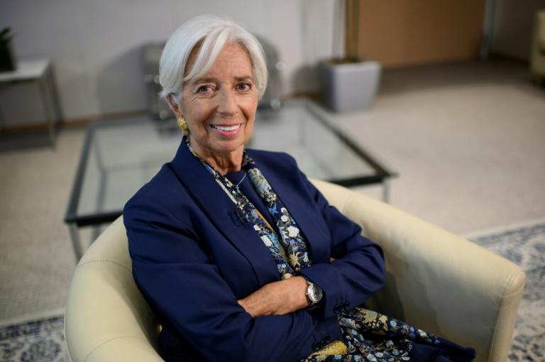 Outgoing IMF Managing Director Christine Lagarde said peace is a key requirement for development in Africa (AFP Photo/Eric BARADAT)