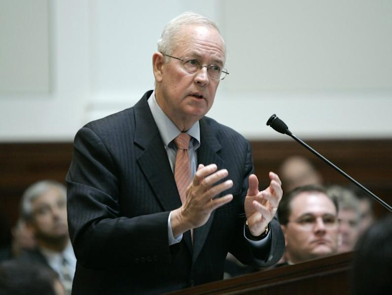 Attorney Starr speaks during arguments before California Supreme Court to overturn Proposition 8 in San Francisco