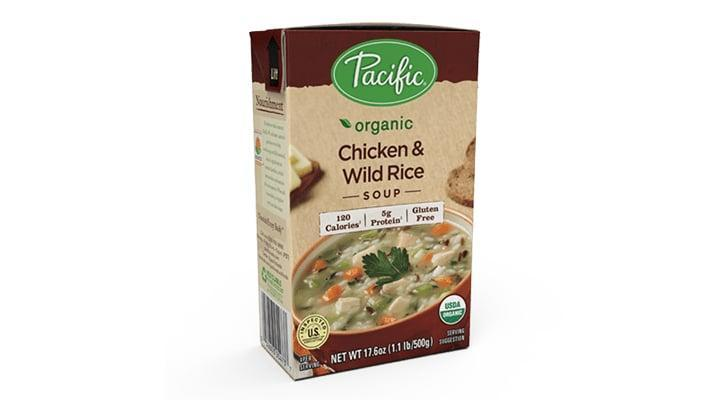 "<p>""On chilly winter nights when I'm feeling lazy, I always turn to <span>Pacific Organic Chicken &amp; Wild Rice Soup</span> ($4). I'm easily skeeved out by meats in premade soups, but the chicken in this soup is actually legit and totally tasty."" - Victoria Messina, editorial assistant, Trending and Viral Features </p> <p>""The comforting chicken and rice soup tastes homemade."" - EC</p>"