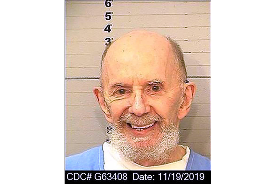 "This Nov. 19, 2019 booking photo provided by the California Department of Corrections shows Phil Spector. Spector, the eccentric and revolutionary music producer who transformed rock music with his ""Wall of Sound"" method and who later was convicted of murder, died Saturday, Jan. 16, 2021. He was 81. (California Department of Corrections via AP)"