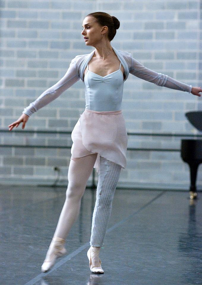 "Natalie Portman danced for up to eight hours a day and dropped 20 pounds for her Oscar winning part in ""Black Swan."""