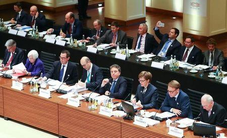 A general view shows the G20 Finance Ministers and Central Bank Governors Meeting in Baden-Baden