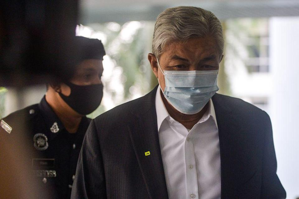 Zahid reassured his followers that he is in good health. — Picture by Miera Zulyana