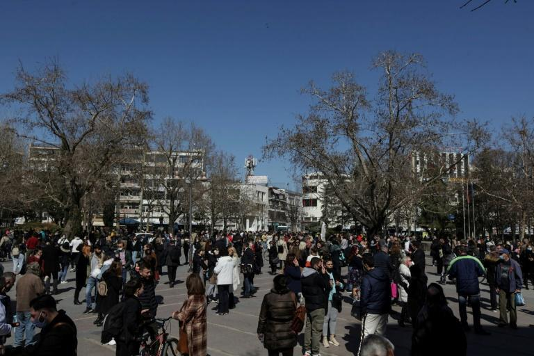 Several aftershocks were reported after the main quake hit mid-morning near the central city of Larissa